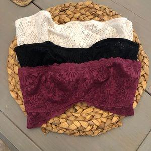 3 strapless VS bras